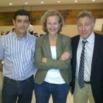 Montse Molina enóloga de Barbadillo, Claudio y un servidor