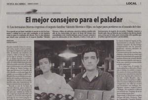 Entrevista sección El Diván de los domingos - Valentin Moreno e Hijos - Julio 2011 - Periódico Nueva Alcarria